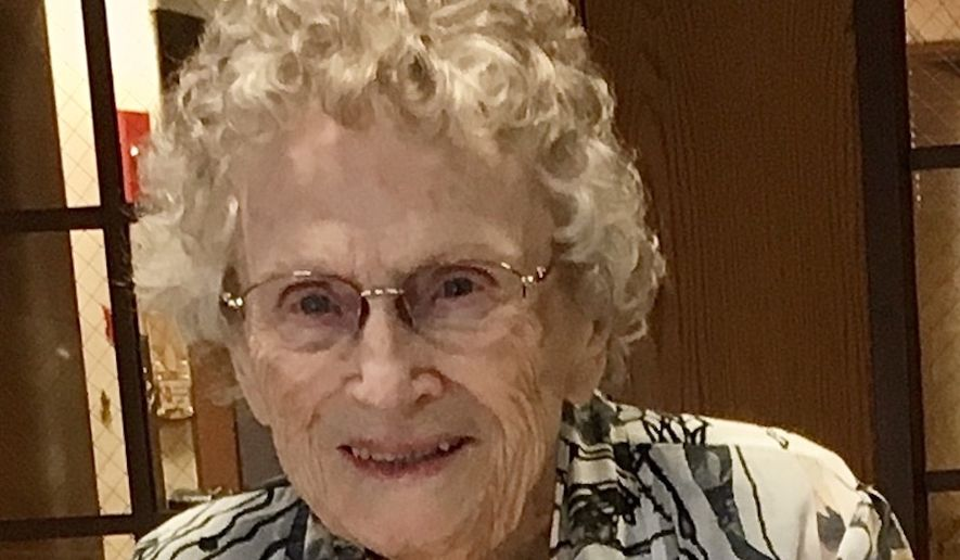 Helen Sertz, shown in 2019 after her 99th birthday, died June 4, 2020, after falling in her home, but the Washington Department of Health attributed her death to COVID-19. (Courtesy of Christine Frye)