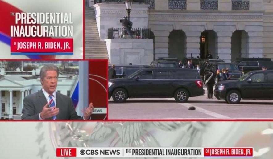 CBS News Chief Washington correspondent Major Garrett discusses the inauguration of President Joseph R. Biden, Jan. 20, 2021. (CBS News, video screenshot)