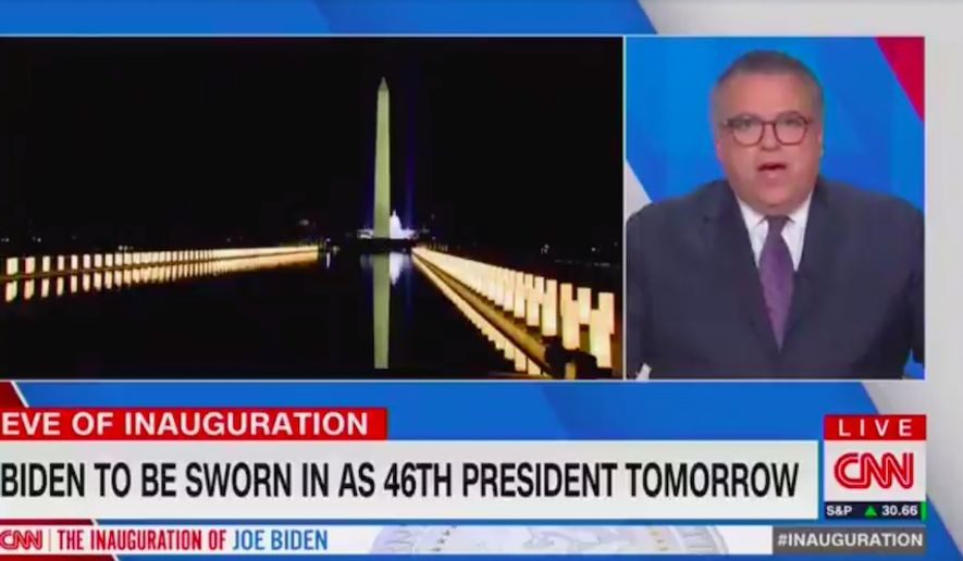 CNN political director David Chalian faced a social media roasting Tuesday night after he fawned over President-elect Joe Biden and the imagery surrounding his upcoming inauguration. (Screengrab via CNN)