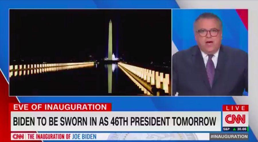 David Chalian, CNN analyst, roasted for saying National Mall lights like 'Biden's arms embracing' us