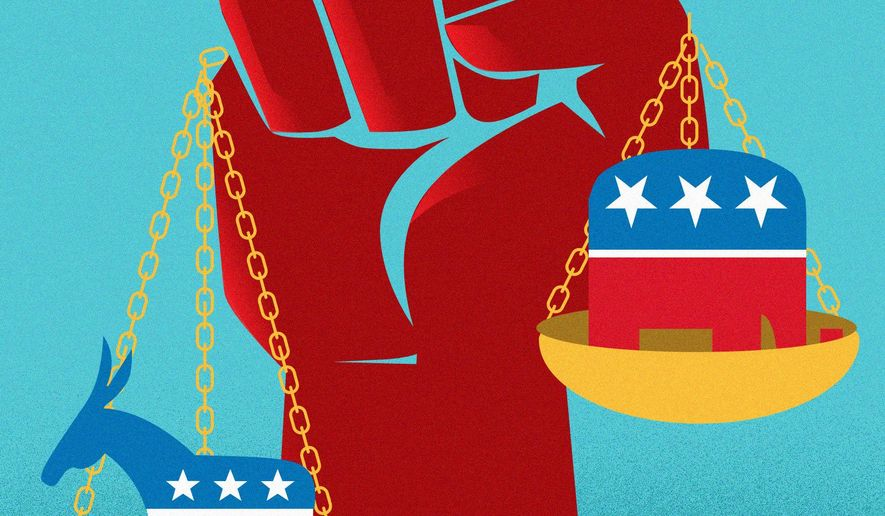 Conservatives are in a decent place right now illustration by Linas Garsys / The Washington Times