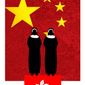 Illustration on Communist China and Catholicism by Alexander Hunter/The Washington times