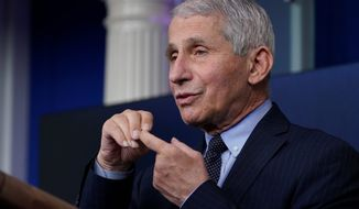 Dr. Anthony Fauci, director of the National Institute of Allergy and Infectious Diseases, said the challenge is to make sure the variants of the coronavirus don't become dominant.