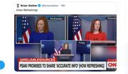 "Investigative journalist Glenn Greenwald responds to a CNN chyron about White House press secretary Jen Psaki that reads ""Psaki promises to share 'accurate info' (how refreshing),"" Jan. 25, 2021. (Image: Twitter, Glenn Greenwald)"