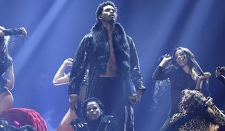 FILE - Trey Songz performs at the BET Awards in Los Angeles on June 25, 2017. Songz was arrested during the AFC Championship game in Kansas City, Mo., after police said he refused to wear a mask and then punched an officer who was trying to remove him from the stadium. Songz, whose name is Tremaine Aldon Neverson, was released Monday, Jan. 25, 2021, from the Jackson County jail. (Photo by Matt Sayles/Invision/AP, File)