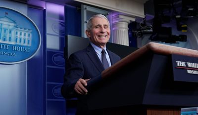 Dr. Anthony Fauci, director of the National Institute of Allergy and Infectious Diseases, earned a salary of $417,608 in 2019, according to a watchdog. This makes him the highest paid federal employee. (Associated Press)
