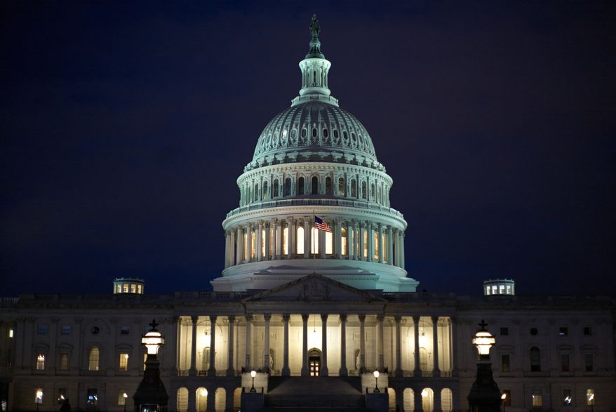 The United States Capitol building, east front, at dawn is seen in this general view, Monday, Jan. 27, 2020, in Washington, DC. (AP Photo/Mark Tenally)  **FILE**