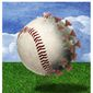 Illustration on baseball and COVID by Alexander Hunter/The Washington Times