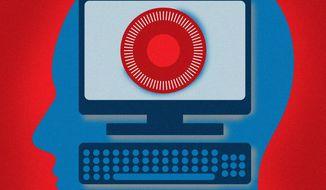 Illustration on protecting consumer data by Linas Garsys/The Washington Times