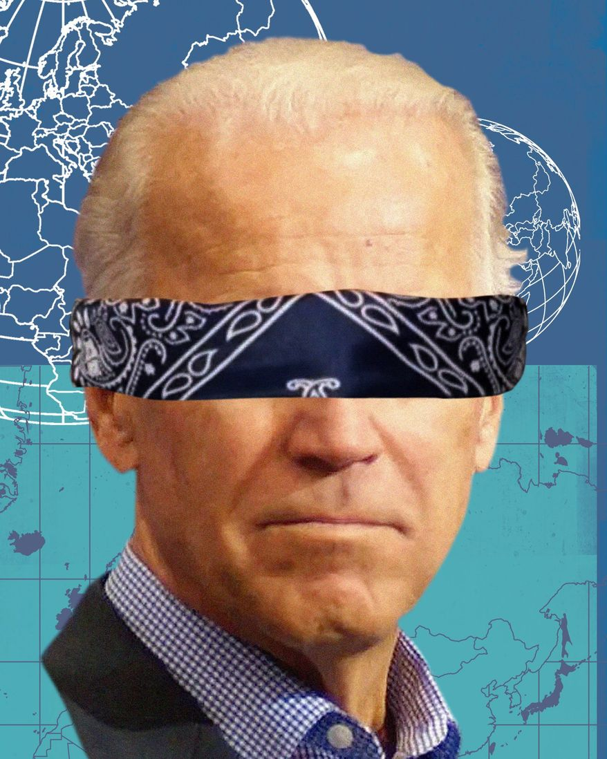 Biden foreign policy illustration by The Washington Times