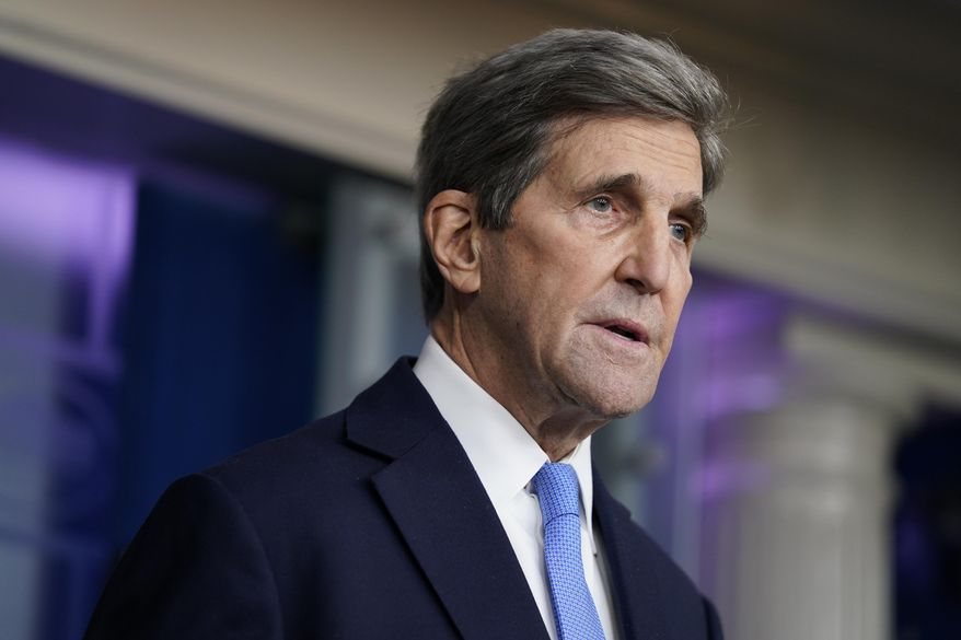 Special Presidential Envoy for Climate John Kerry speaks during a press briefing at the White House, Wednesday, Jan. 27, 2021, in Washington. (AP Photo/Evan Vucci) **FILE**