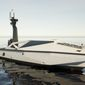 A rendering of the autonomous vessel being developed by shipbuilder Metal Shark as part of the US Marine Corps' new LRUSV system. (Metal Shark via GlobeNewswire)