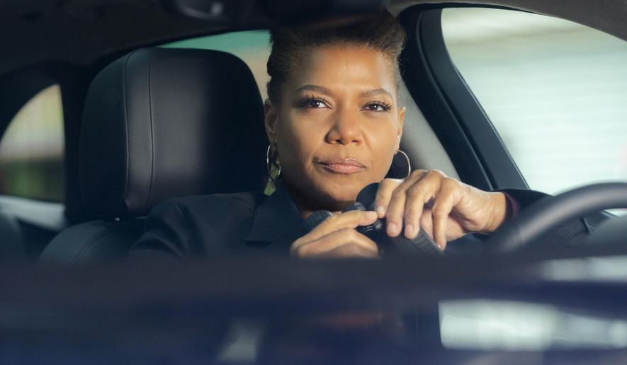 "This image released by CBS shows Queen Latifah in a scene from the series ""The Equalizer,"" premiering after the Super Bowl on Sunday, Feb. 7. (Barbara Nitke/CBS via AP)"