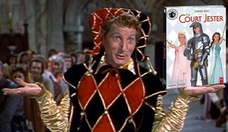 """Danny Kaye in """"The Court Jester,"""" now available on Blu-ray as part of the Paramount Presents collection."""