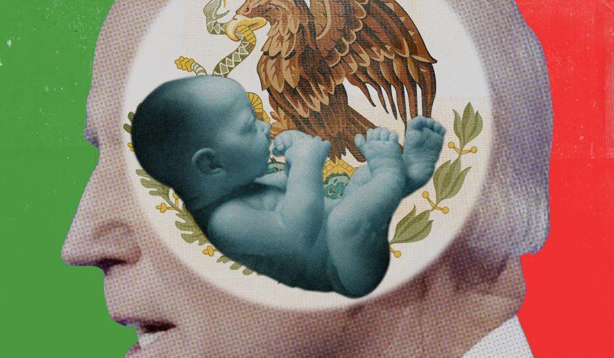 Biden being Catholic and pro-abortion illustration by The Washington Times