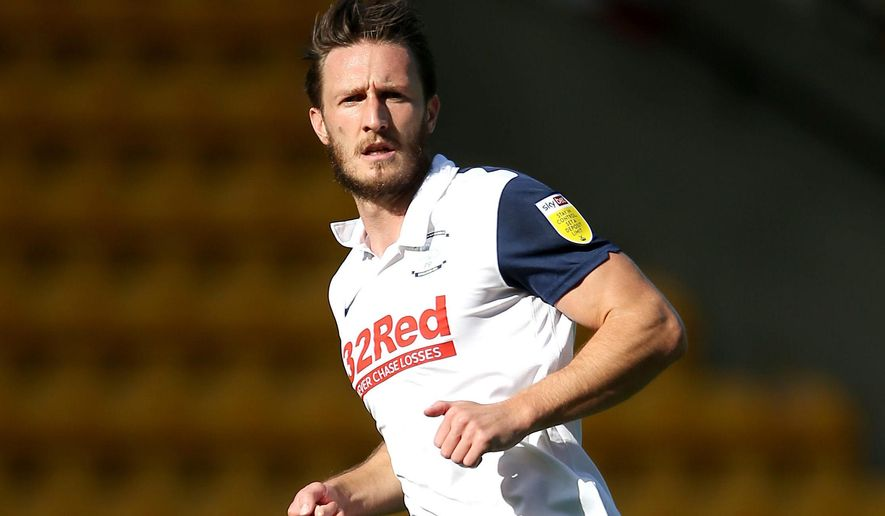 FILE - This Sept. 19, 2020 file photo shows Preston North End's Ben Davies. Liverpool attempted to address its injury crisis in central defense by signing an unheralded player from England's second division on Monday Feb. 1, 2021, Ben Davies, a 25-year-old left-sided center half who plays for Preston in the Championship. (Nigel French/PA via AP, File)