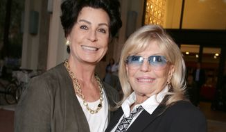 Tina Sinatra and Nancy Sinatra seen at Frank Sinatra's Centennial celebration at USC's School of Cinematic Arts on Sunday, November 08, 2015, in Los Angeles, CA. (Photo by Eric Charbonneau/Invision for USC's School of Cinematic Arts/AP Images)