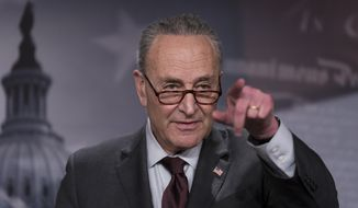 Senate Majority Leader Chuck Schumer, D-N.Y., speaks at a news conference at the Capitol in Washington, Tuesday, Feb. 2, 2021. (AP Photo/J. Scott Applewhite) ** FILE **