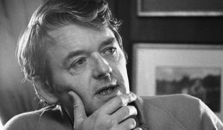 Actor Hal Holbrook appears during an interview in his New York apartment on Feb. 8, 1973. Holbrook died on Jan. 23 in Beverly Hills, California, his representative, Steve Rohr, told The Associated Press Tuesday. He was 95. (AP Photo/Jerry Mosey, File)