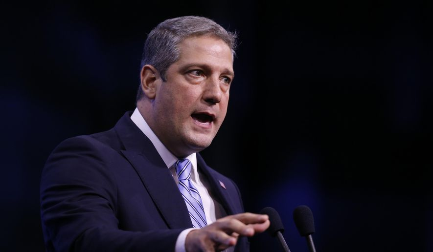 In this Sept. 7, 2019, file photo, Democratic presidential candidate Rep. Tim Ryan, D-Ohio, speaks during the New Hampshire state Democratic Party convention in Manchester, N.H. An open Senate seat in Ohio has set off a round of jockeying among ambitious Democrats and a spirited debate over who is best poised to lead a party comeback in a one-time battleground that has been trending Republican. (AP Photo/Robert F. Bukaty, File)