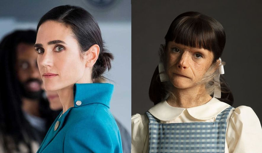 "Melanie Cavill (Jennifer Connelly) in ""Snowpiercer: The Complete First Season"" and Dorothy Spinner (Abigail Shapiro) in Doom Patrol: The Complete Second Season,"" now available in the Blu-ray format from Warner Bros. Home Entertainment."