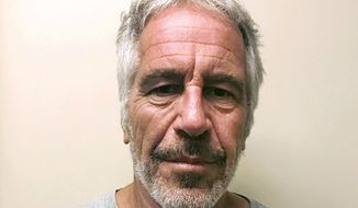 FILE - This March 28, 2017, file photo, provided by the New York State Sex Offender Registry, shows Jeffrey Epstein. A fund set up to provide money to victims of financier Epstein has abruptly suspended payouts. The Epstein Victims' Compensation Program said Thursday, Feb. 4, 2021, it has temporarily run out of funds. (New York State Sex Offender Registry via AP, File)