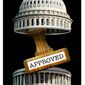 Illustration on congress and elimination of dissent by Alexander Hunter/The Washington Times