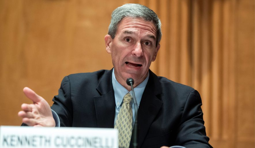 Then-acting Deputy Secretary of the Homeland Security Department Ken Cuccinelli signed the agreements in the final weeks of the Trump administration. (Associated Press) **FILE**