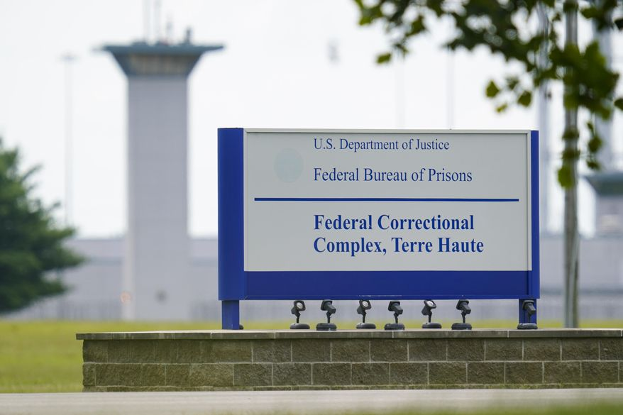 FILE - This Aug. 28, 2020, file photo shows the federal prison complex in Terre Haute, Ind. Biden, the first sitting U.S. president to openly oppose the death penalty, has discussed the possibility of instructing the Department of Justice to stop scheduling new executions, officials said. Action to stop scheduling new executions could take immediate pressure off Biden from opponents of the death penalty. But they want him to go further, from bulldozing the federal death chamber in Terre Haute, Ind., to striking the death penalty from U.S. statutes. (AP Photo/Michael Conroy, File)