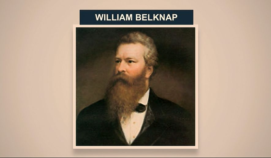 William Belknap, who had led the War Department, resigned from office in 1876 under accusations of bribery. Though he resigned, the House voted to impeach him anyway. (Associated Press)