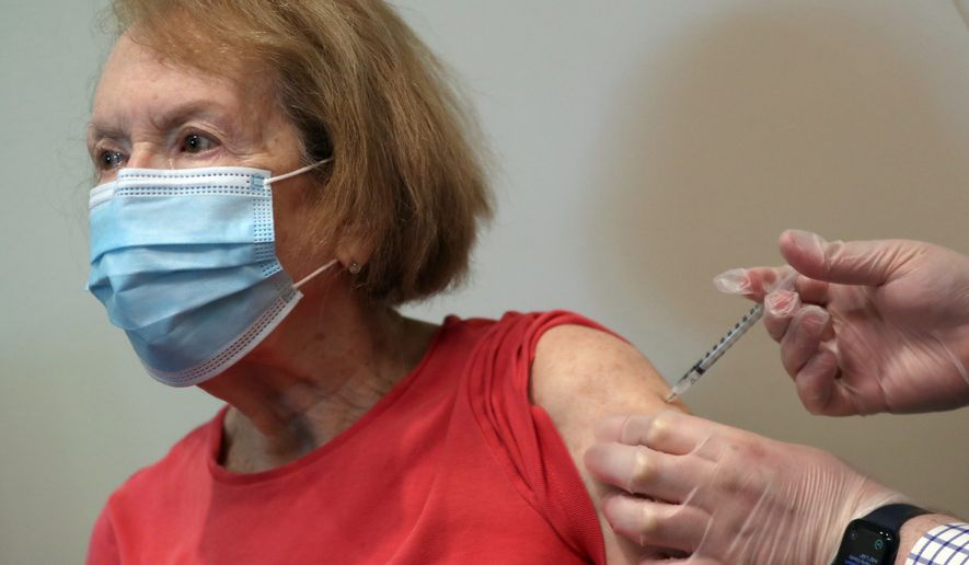 Only 29% of Americans older than 64 have received a coronavirus vaccine, according to a study. (Associated Press)