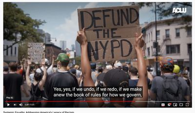 """The American Civil Liberties Union (ACLU) has launched a new initiative to combat systemic racism in the U.S. (Image: YouTube, ACLU, """"Systemic Equality: Addressing America's Legacy of Racism"""" video screenshot)"""