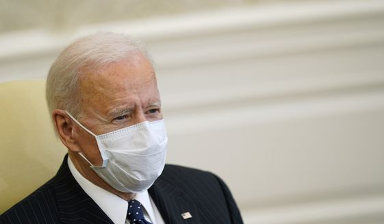 President Biden on committed to working with Congress to replace war-making authorities that have underpinned U.S. military action in the Middle East and beyond for the nearly two decades since the shock of the Sept. 11 attacks in 2001. (AP Photo/Patrick Semansky)