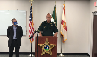 Pinellas County Sheriff Bob Gualtieri speaks at a Feb. 8, 2021 new conference about a recent incident in which a hacker attempted to poison the water supply for the City of Oldsmar, Florida. Photo via screen capture from a Pinellas County [Fla.] Sheriff's Office YouTube video of the press conference. (Pinellas Sheriff/YouTube) [https://www.youtube.com/watch?v=MkXDSOgLQ6M&ab_channel=PinellasSheriff]