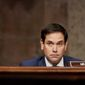 Sen. Marco Rubio spent much of the day tweeting about 20 videos of protests against the communist dictatorship, and then he noted that President Biden had been maintaining radio silence. (Associated Press/File)