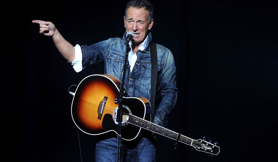 In this Nov. 5, 2018, file photo, Bruce Springsteen performs at the 12th annual Stand Up For Heroes benefit concert at the Hulu Theater at Madison Square Garden in New York. (Photo by Brad Barket/Invision/AP, File)