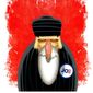 Illustration on Iran's attitude toward President Biden by Alexander Hunter/The Washington Times