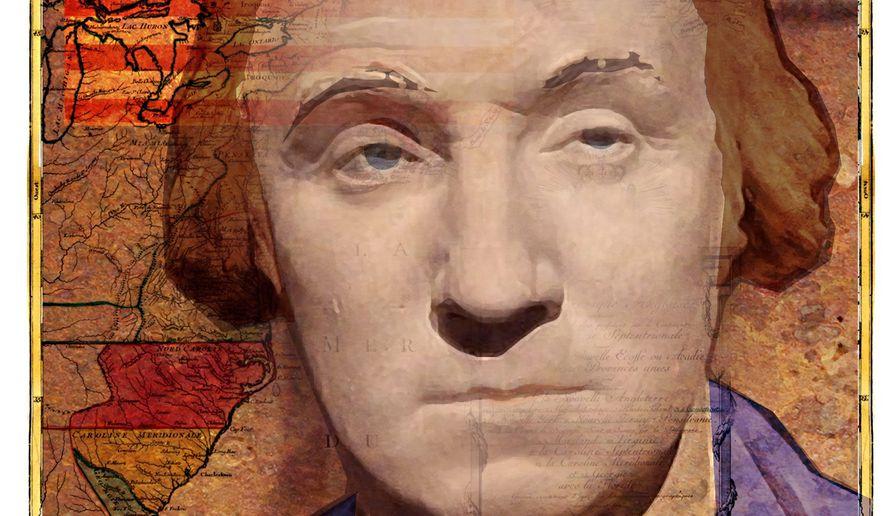 Illustration on George Washington by Alexander Hunter/The Washington Times
