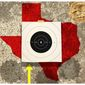 Illustration on the targeting of Texas by the Biden administration by Alexander Hunter/The Washington times