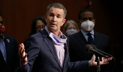 In this June 4, 2020, file photo, Virginia Gov. Ralph Northam speaks during a news conference in Richmond, Va. (AP Photo/Steve Helber, File)