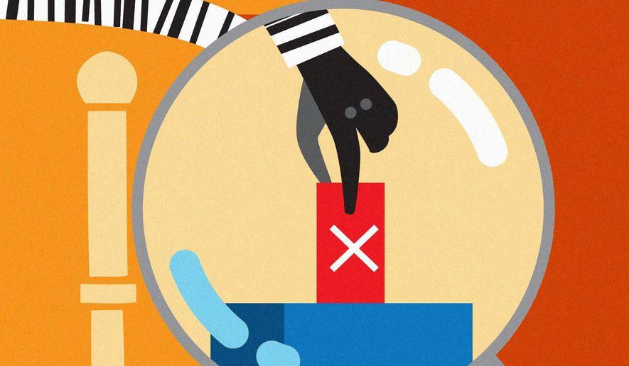 Election fraud illustration by Linas Garsys / The Washington Times