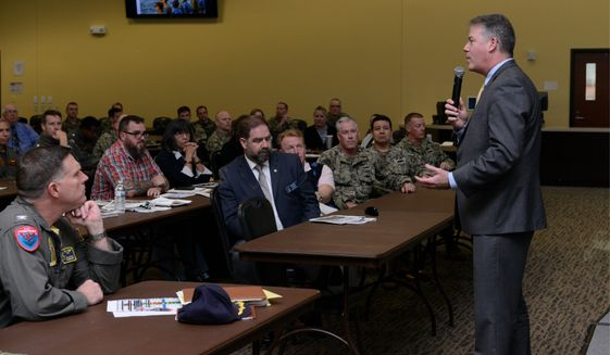 "Acting Navy Secretary Thomas W. Harker, outlining a Biden administration order, said, 'Extremist conduct is contrary to good order and discipline."" (U.S. Navy)"