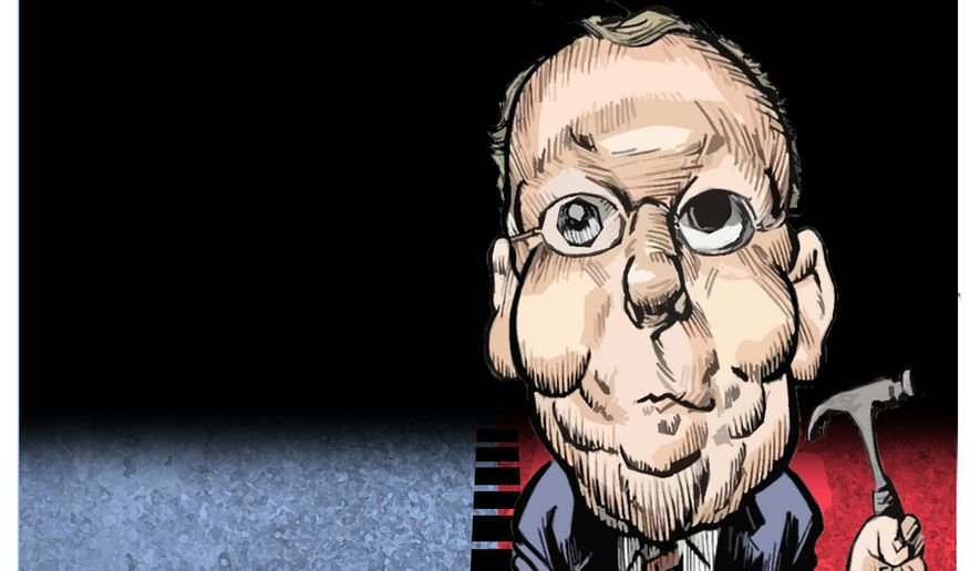 Illustration on Mitch McConnell by Alexander Hunter\The Washington times