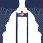 Democrats and military-style barrier around U.S. Capitol illustration by Linas Garsys / The Washington Times