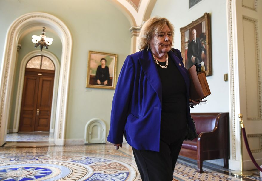 Rep. Zoe Lofgren, California Democrat, has changed terms in immigration policy that are considered to have negative connotations. They and other congressional Democrats, as well as immigrant advocates, hope that rewriting the terms is a precursor to another attempt to enact legislation to legalize most illegal immigrants. (Associated Press)