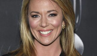 """CNN news anchor Brooke Baldwin attends the premiere of """"Molly's Game"""" on Dec. 13, 2017, in New York. (Photo by Evan Agostini/Invision/AP)  ** FILE **"""