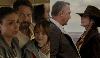 "The Garrity's look to survive a mass extinction event in ""Greenland"" while the Blackledge's look for their grandson in ""Let Him Go,"" now available in the Blu-ray format."
