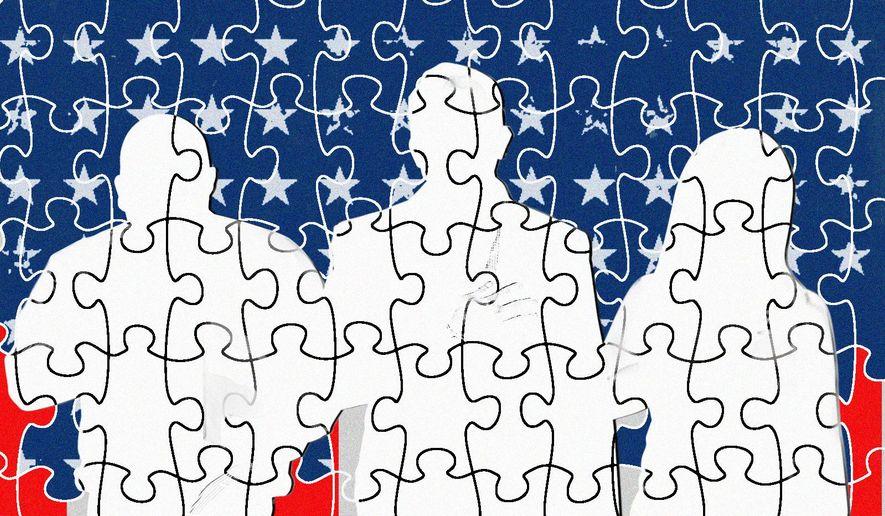 Patriotism and National Anthem unites Americans illustration by Linas Garsys / The Washington Times
