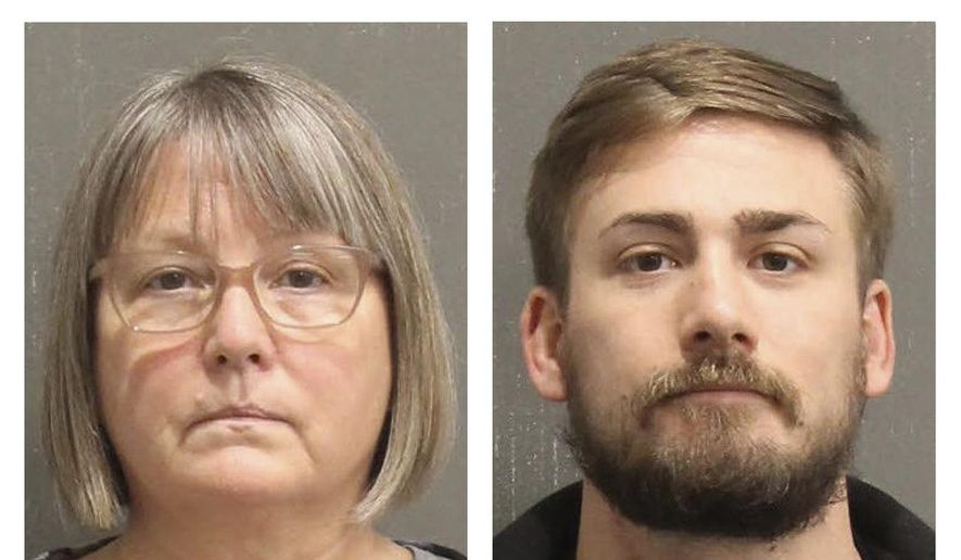 This booking photo released by the Metro Nashville, Tenn., Police Department, shows Lisa Marie Eisenhart, left, and Eric Gavelek Munchel. Lisa Eisenhart is accused of breaking into the Capitol with her son, Eric Munchel, who was photographed carrying flexible plastic handcuffs in the Senate chamber. (Metro Nashville Police Department via AP) ** FILE **