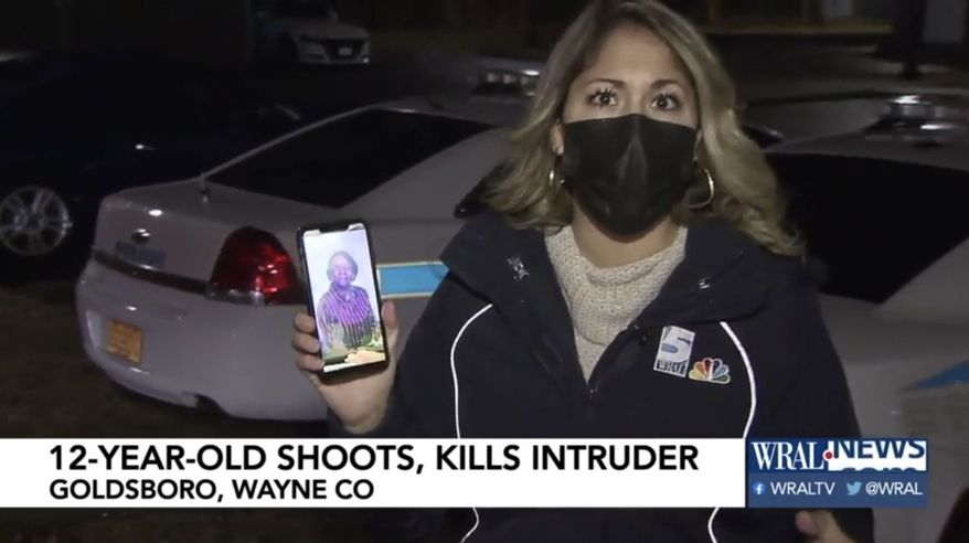 Kirsten Gutierrez of WRAL-5 in North Carolina reports on a 12-year-old boy who saved his grandmother during a home invasion. (Image: WRAL-5 video screenshot)
